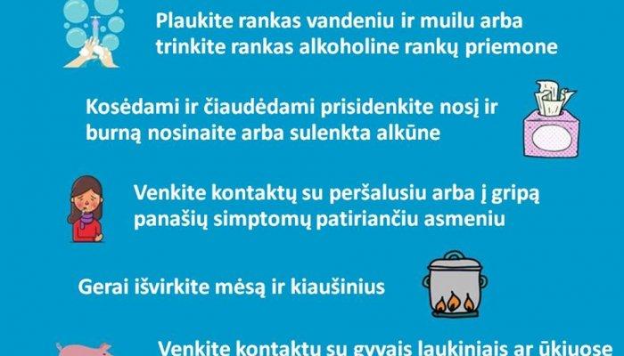 INFORMACIJA DĖL KORONAVIRUSO